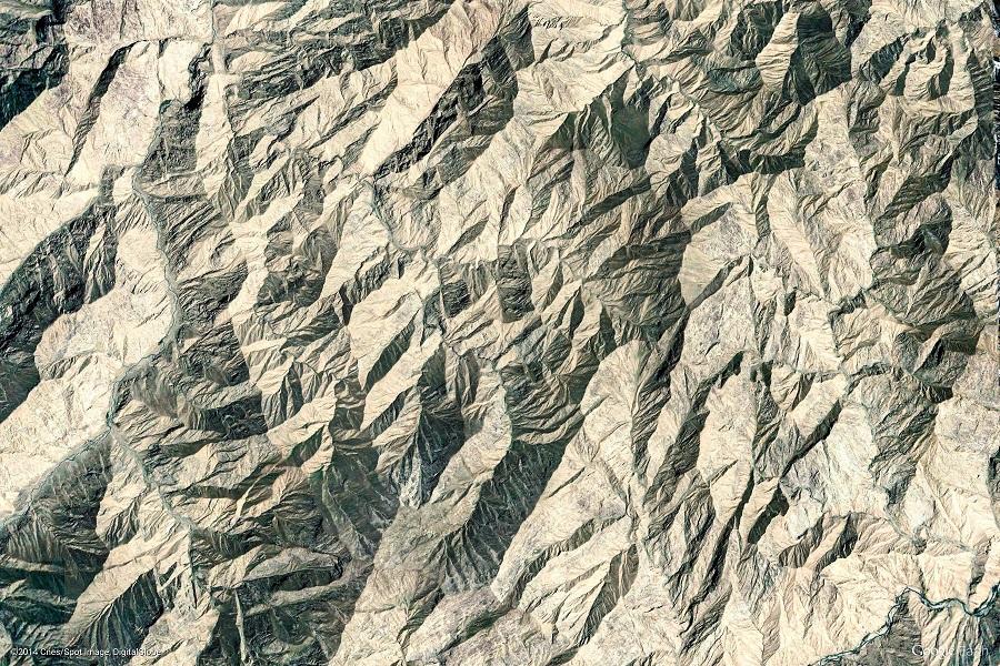 Satelitní snímek Čína