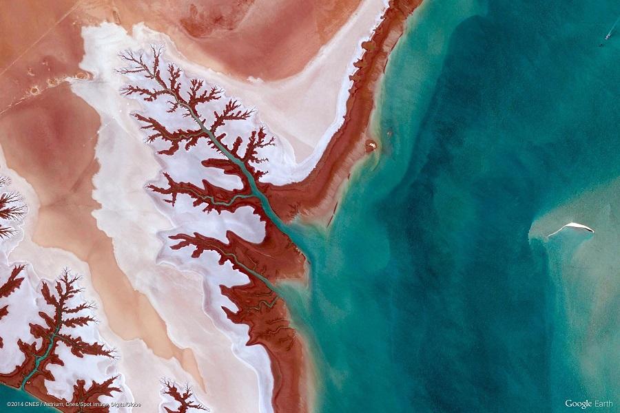 Satelitní snímek Írán