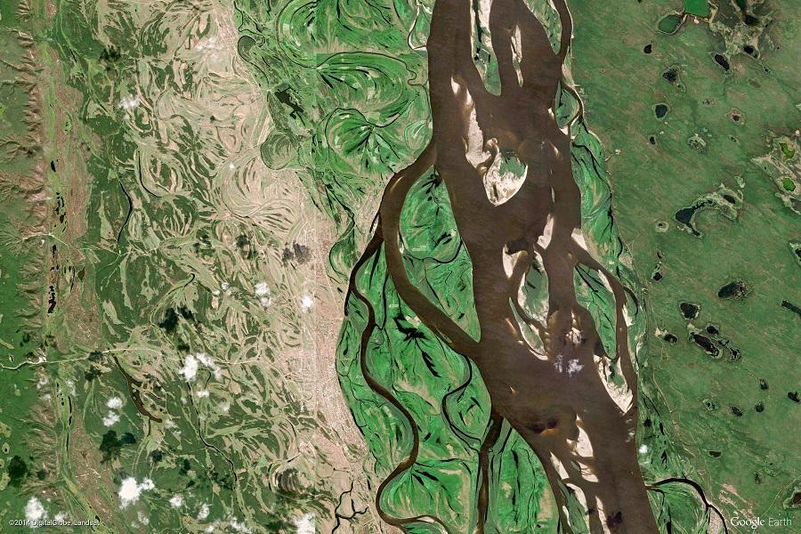 Satelitní snímek Rusko