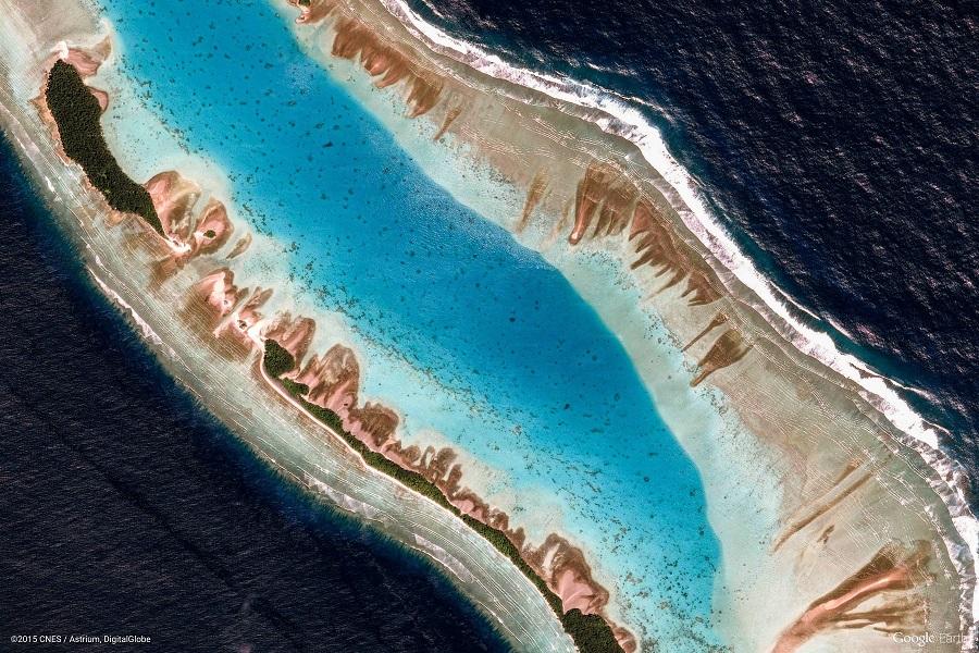 Satelitní snímek Marshallovy ostrovy