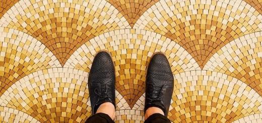 Historické mozaiky a ornamentální dlaždice Paříž