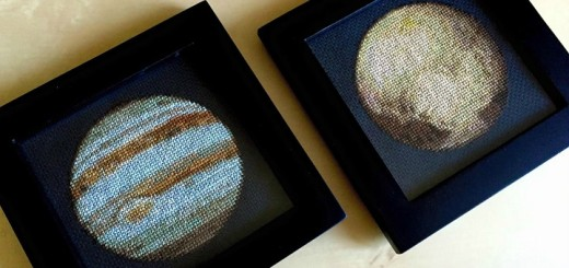 Křížková výšivka Jupiter a Pluto