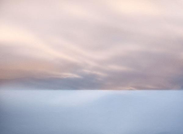 Iluze západu slunce pomocí papíru.